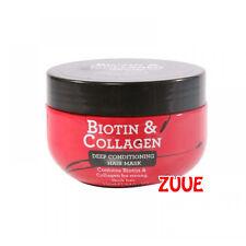 2x Biotina Colágeno Engrosamiento Pelo de acondicionamiento profundo & Máscara 250ml de vitamina B7