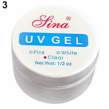 New Well-Made Clear White Pink Nail Art Primer Base UV Gel Top Coat Builder Tips