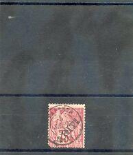 TAHITI Sc 15(YT 17)FINE USED, 1893 75c CARMINE NIBBED LL CORNER PERF,  $175