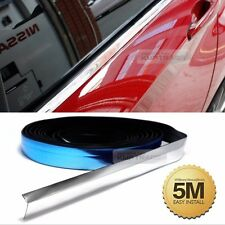 Flexible Chrome Edge Trim Molding Accessory Garnish Silver Cover 5M For TOYOTA
