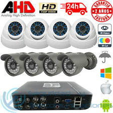 KIT AHD 720p DVR 8CH H264 + 4 CAMARAS INTERIOR + 4 EXTERIOR CCTV VIDEOVIGILANCIA