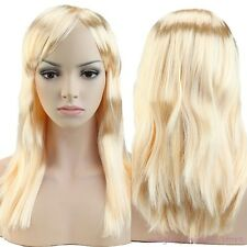 US Full Wig Long Straight Wavy Curly Cosplay Party Halloween Fancy Dress Brown F