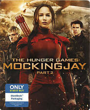 THE HUNGER GAMES: MOCKINGJAY PART 2 BLU-RAY+DVD+DIGITAL HD STEELBOOK EDITION NEW