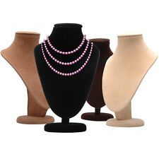 4pcs 17cm High Necklace Stand Jewellery Retail Shop Tall Display Busts Holder UK
