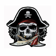 Gran motorista piratas Skull cráneo aufbügler Patch back Patch espalda Patch