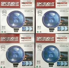 "ANGEL EYE BLUE PAIR 24V CAR 4 X 9"" CHROME SPOTLIGHTS 4X4 BOAT SPOT LIGHTS TRUCK"