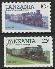 Tanzania (10) 1985 Locomotives 10s YELLOW OMITTED plus normal mnh Trains Railway