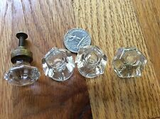 4 miscellaneous  ANTIQUE VINTAGE GLASS DRAWER PULLS KNOBS