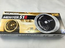 Aoshima 09079 VIP Car Tire & Wheel Set W Work Meister S1R 19 inch 1/24 scale kit