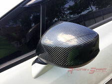 REAL GLOSSY CARBON FIBER SIDE MIRROR COVER 11-15 HONDA CIVIC FB SI SEDAN COUPE 1