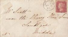 GB Linea incisa: 1865 Piastra ID 71 M-L USATO su BUSTA-Londra W