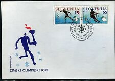 SLOVENIA 1994 WINTER OLYMPICS LILLEHAMMER/SLALOM/CROSS COUNTRY SKIING/FDC
