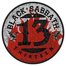 BLACK Sabbath - 13 Thirteen Patch Ricamate Tondo Round Doom HEAVY METAL ROCK NUOVO