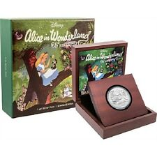 2016 ALICE IN WONDERLAND 65th ANNIVERSARY  1 OZ SILVER PROOF $2 COIN!!!!