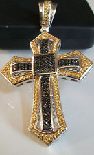 Gold/Silver Finish Cross with  Bling CZ  Elegant Pendant