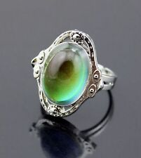 FREE GIFT BAG Mood Colour Temp Change Silver Tone Vintage Style Adjustable Ring