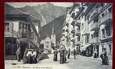 C P A CHAMONIX La Place et le Brévent animée non voyagée non écrite vers 1910
