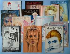 David Bowie lot Starzone fanzine magazine 1 2 3 4 5 6 7 8 9 10 11 12  83/84 rare