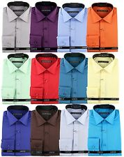 Luxton Men's Modern Slim Fit Button Down Dress Shirt