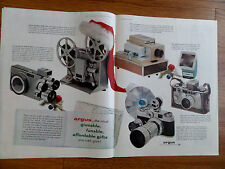 1959 Argus Cameras Ad Movie Me M-500 Projector 35 MM & Electromatic Touch
