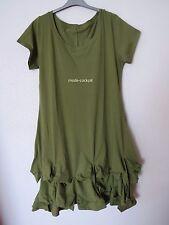 BORIS INDUSTRIES  Traum Ballon Kleid Baumwolle Raffsaum grün 48-50 (5)