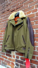 NEW SCHOTT NYC Perfecto LABEL JACKET MADE IN USA SHEARLING/WOOL /LEATHER NWT