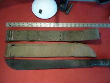 WW II US marked machete / sheath / pistol belt...group of 3...well marked
