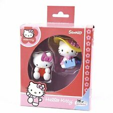 BULLYLAND BULLY HELLO KITTY GIFT PACK 2 FIGURE SHOPPING GIRL VALENTINE 53402