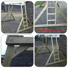 Kids Wooden Monkey Bars Made To British Standards