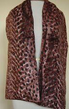 New_Pretty_Lined Velvet Scarf_Animal Print_Brown/Black