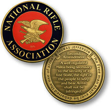 "National Rifle Association NRA Seal - Second Amendment 1 7/8"" - Challenge Coin"