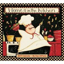Home is in the Kitchen 2017 Deluxe Wall Calendar - Cartoon Cooking Chef Food Eat