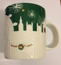 Starbucks London England UK City Relief Holiday Green Christmas Mug New 2015