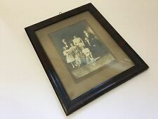 Antique 1912 Stoic Family Portrait Sepia Photo Framed Edwardian Surname Sinski