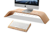 Wooden Stand Platform Riser + Keyboard holder For Apple iMac Pro LCD monitors