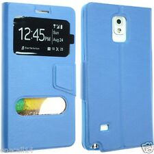 FOR SAMSUNG GALAXY NOTE 4 N9100 LEATHER CASE COVER FLIP POUCH SLIM BACK SKIN NEW