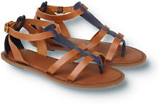 NEW Quiksilver Tradewinds 7.5 8 39 SANDALS FLIP FLOP SHOES $74 Blue Tan Leather