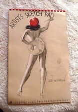 VINTAGE FAMOUS PIN UP CALENDAR OF EARL MACPHERSON 1943 HAWAII COWGIRL SKETCH PAD