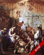 ADORATION OF BABY LORD JESUS THE MAGI 3 WISE MEN PAINTING ART REAL CANVAS PRINT