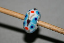 Original Trollbeads-Blue Upright BUTTERFLY FARFALLA Critter Unique OOAK
