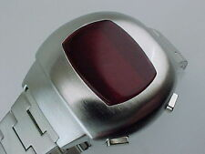 70s 1970s Vintage Style LED LCD DIGITAL Rare Retro Mens Watch 12 & 24 hour p3