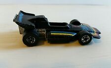 "1973 Hot Wheels Grand Prix Racecar - Black with stripes and ""Goodyear"" Logo"