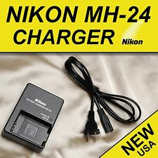 Nikon MH24 Charger Replacement EN-EL14 EN-EL14a Battery D5100 D5200 D5300 P7000