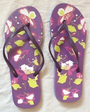 Flip Flop Sandal Shoes Summer Holiday Beach Size M Medium 5 6 38 39 Purple