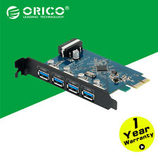 ORICO 4 Port Desktop USB 3.0 PCI Express Controller Card Adapter for Laptop PC