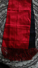 Stunning Shanghai Tang 100% Silk Scarf Double Sided Red & Black