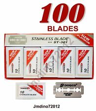 100 Dorco Platinum ST-301 Stainless Double Edge Safety Blades - Fast Shipping