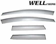WellVisors Side Window Visors Deflectors W/ Chrome Trim For 07-12 Mazda CX-7