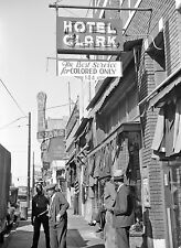 1940s Segregation Sign Hotel Clark For colored people only 8 x 10 Photograph