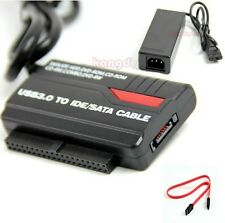 "USB 3.0 to 2.5"" 3.5"" HDD Hard Drive SATA IDE Adapter Converter + Power Cable OTB"